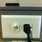 The unit to be controlled plugs into the front.